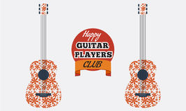 Poster, flyer, invitation, advertisement design for guitar club. Stock Photos