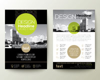 Poster flyer pamphlet brochure cover design layout with circle shape graphic royalty free illustration