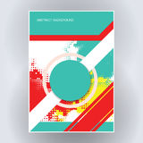 Poster flyer template Royalty Free Stock Photography