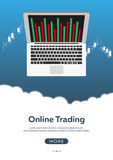 Poster Forex trading. Forex online, online trading. Stock market analysis, finance. Flat style illustration. Poster Forex trading. Forex online, online trading Stock Images