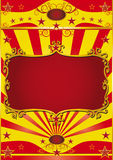 Poster frame circus. Circus background with a red frame for your circus show Stock Photo