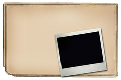 Poster Frame and polaroid. Background of a blanc message board or a poster with a polaroid attached. Insert your own text and images royalty free illustration
