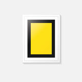 Poster frame. Vector template design. Poster frame on a gray wall. Vector template design Stock Images