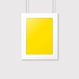 Poster frame. Vector template design. Poster frame on a gray wall. Vector template design Stock Photography