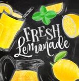 Poster fresh lemonade chalk Royalty Free Stock Photography