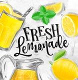 Poster fresh lemonade Stock Photography