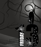 Poster Friday the 13th. Grayscale Stock Images