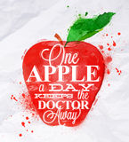 Poster fruit apple red Royalty Free Stock Image