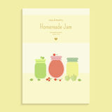 Poster with fruit jam Stock Image