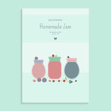 Poster with fruit jam Royalty Free Stock Photography