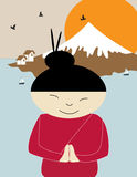 Poster: Fuji, Japan Royalty Free Stock Photography