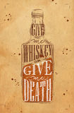 Poster give me whiskey craft Stock Photo