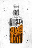 Poster give me whiskey paper Stock Photography