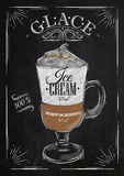 Poster glace chalk Royalty Free Stock Image
