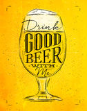Poster good beer yellow Stock Image