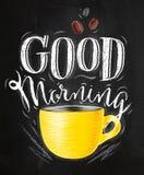 Poster good morning chalk Royalty Free Stock Image