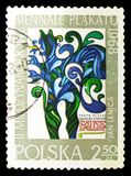 Poster for gounod's, by Jan Lenica, 2nd International Poster Biennial Exibition, Warsaw serie, circa 1968. MOSCOW, RUSSIA - SEPTEMBER 15, 2018: A stamp printed royalty free illustration