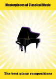 Poster with grand piano Stock Photos