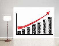 Poster with graph Royalty Free Stock Photos
