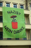 Poster Green Party. MARCH 18, 2007 - BERLIN: a poster on the headquarters of the German Green Party against fascism and nazi-propaganda stock image
