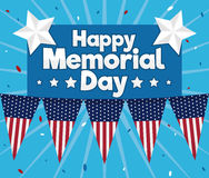 Poster with Greeting for Memorial Day Celebration, Vector Illustration Royalty Free Stock Photography