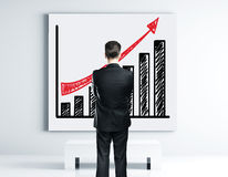Poster with growth chart Stock Photo