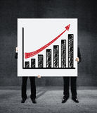 Poster with growth chart Royalty Free Stock Images