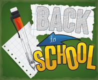 Poster with Mechanical Pencil for Back to School Season, Vector Illustration Stock Photo