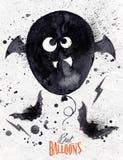 Poster halloween balloon Stock Image