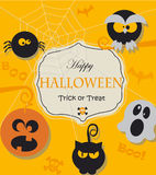 Poster for Halloween Party Night. Royalty Free Stock Image
