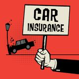 Poster in hand, business concept text Car Insurance Royalty Free Stock Images