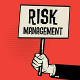 Poster in hand, business concept Risk Management. Poster in hand, business concept with text Risk Management, vector illustration Royalty Free Stock Photography