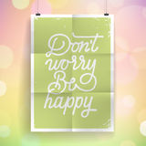 Poster with hand drawn lettering slogan on vintage background Royalty Free Stock Images