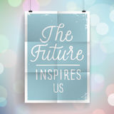 Poster with hand drawn lettering slogan on vintage background Stock Images