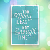 Poster with hand drawn lettering slogan on vintage background Royalty Free Stock Photography