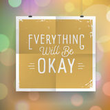 Poster with hand drawn lettering slogan on vintage background Stock Photography