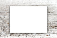 Poster hanging on the art gallery wall Royalty Free Stock Photo