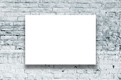 Poster hanging on the art gallery wall Royalty Free Stock Image