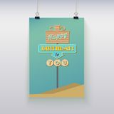 Poster hanging with birthday greetings. Stock Image