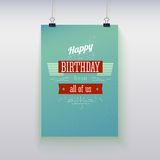 Poster hanging with birthday greetings. Royalty Free Stock Photo