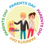 Parents Day Banner with Colourful Inscription Stock Images