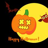 Poster Happy Halloween. Halloween pumpkins smile. Illustration Royalty Free Stock Photo