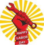 Poster happy labor day vector illustration