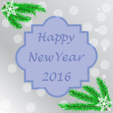 Poster - happy new year 2016, the lettering is written in a fram Royalty Free Stock Image