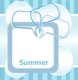 Poster Hello summer time and abstract speech bubbles set Stock Images