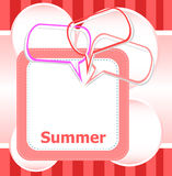 Poster Hello summer time and abstract speech bubbles set Stock Image
