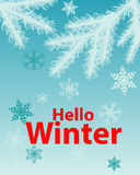 Poster Hello Winter Stock Photography