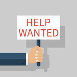 Poster ` Help wanted Royalty Free Stock Photo
