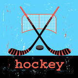 Poster for hockey Royalty Free Stock Photography