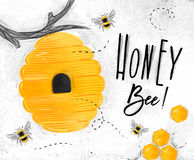 Free Poster Honey Bee Royalty Free Stock Photos - 99237418